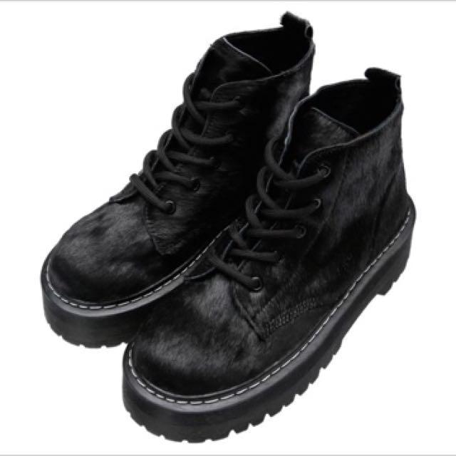 馬毛厚底靴