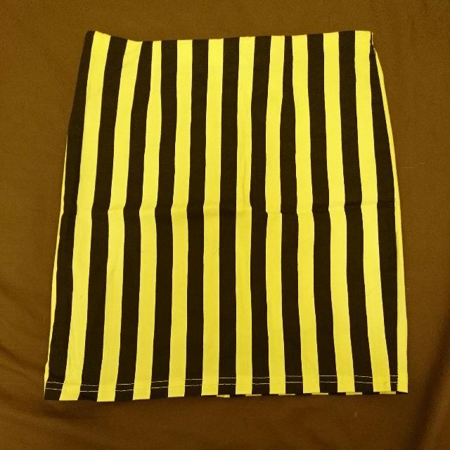 直紋鬆緊彈性包臀裙 窄裙