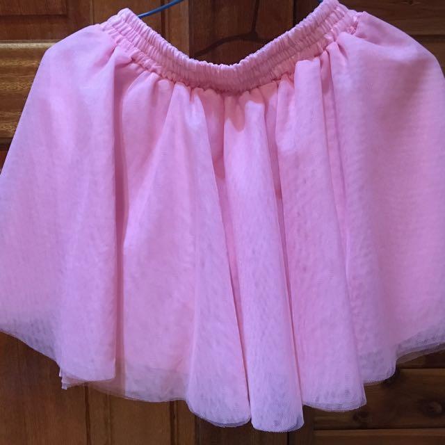 全新 韓版粉紅可愛紗裙