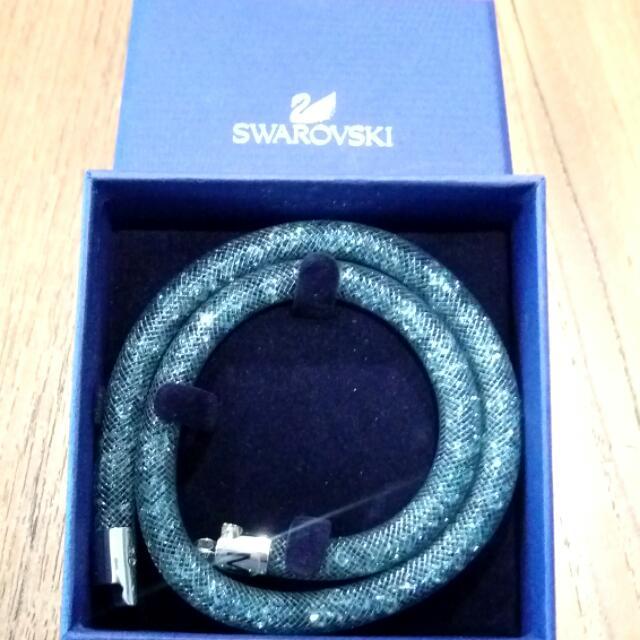 施華洛世奇 藍綠水晶手鍊
