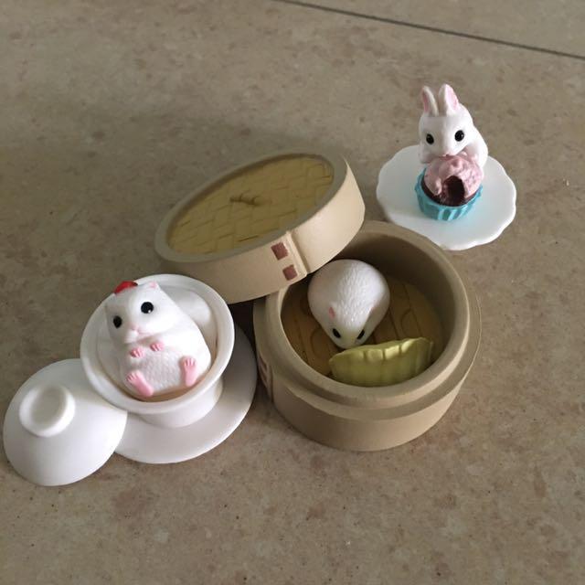 ⚡️ㄧ起出清⚡️💕點心鼠 點心兔💕食玩 扭蛋 盒玩 杯緣子 蒸籠 杏仁豆腐