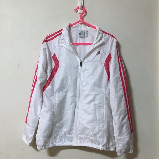 Adidas白色風衣外套