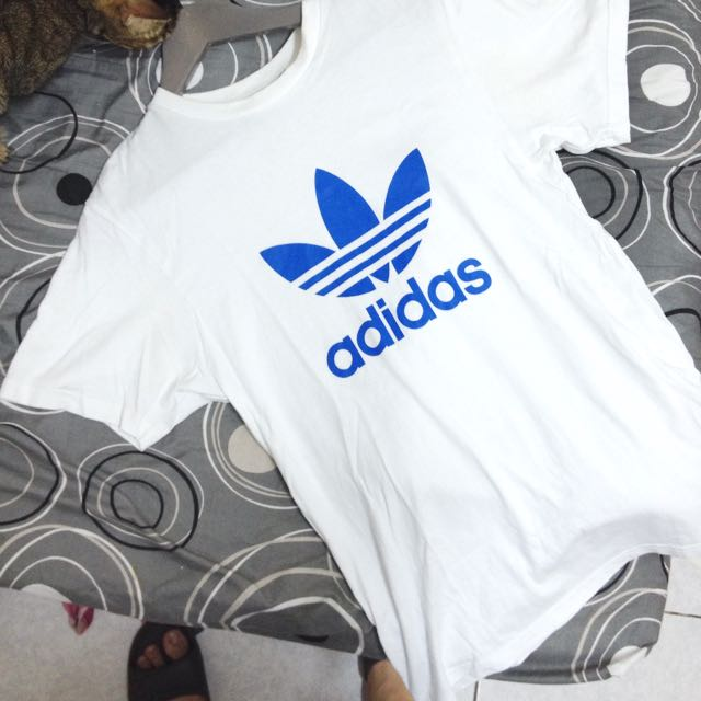 Adidas Original 白底藍logo