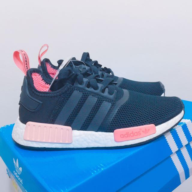 Adidas Originals NMD_R1 潮流 慢跑 黑粉 女