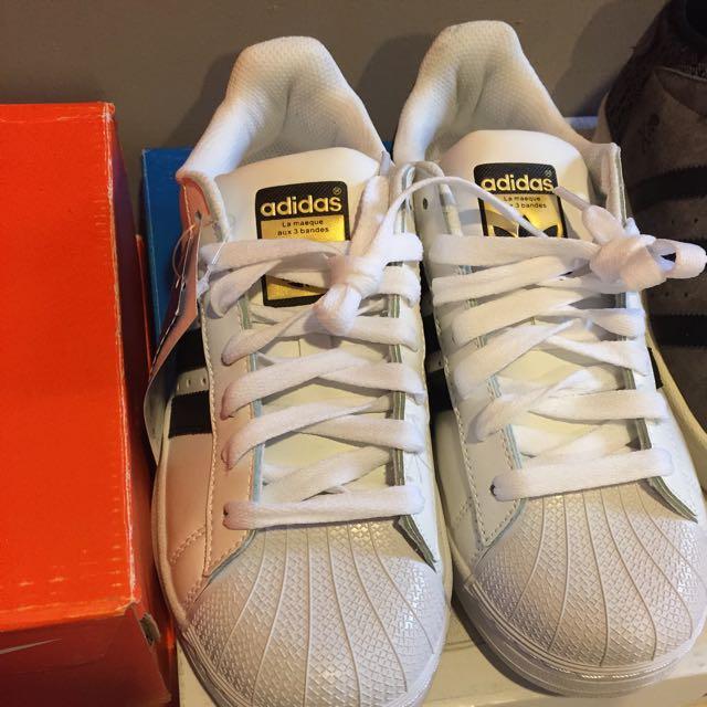 Adidas Originals Superstar 黑白 金標 貝殼頭 男女