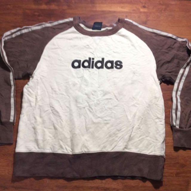 Adidas Three Stripes Nice Design Sweatshirt Spell Out