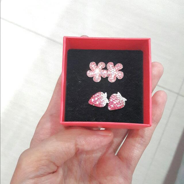 Anting Fashion Bunga Pink