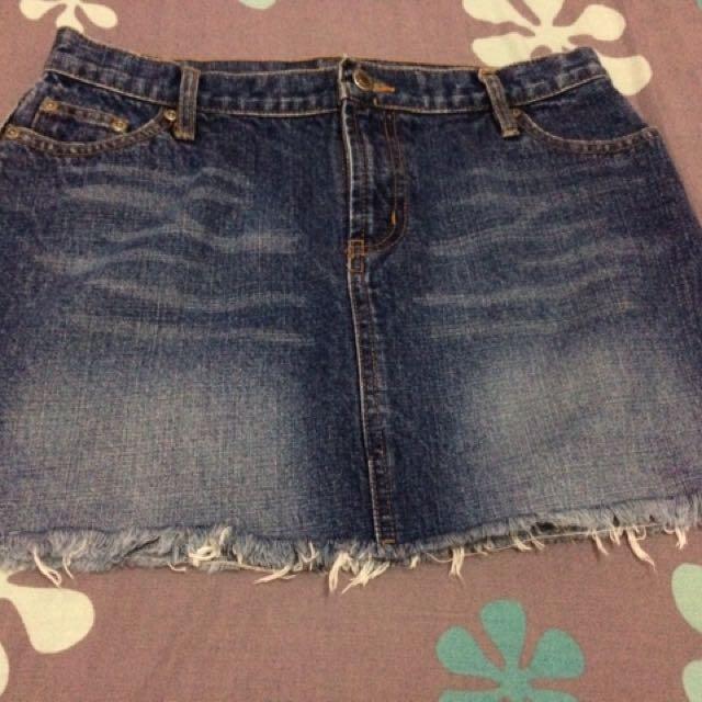 Arizona semi-pencil denim skirt