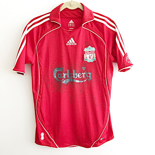 purchase cheap 64fa1 e0514 AUTHENTIC Liverpool Home Jersey 07/08, Sports, Sports ...