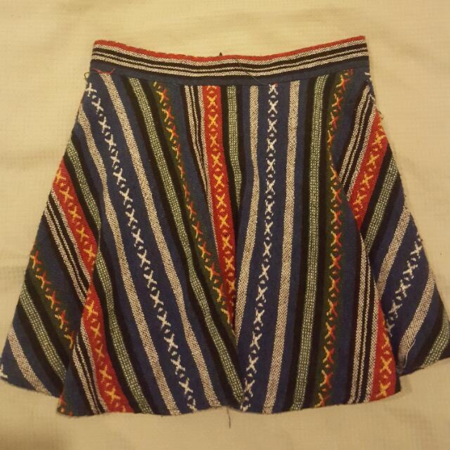 Aztec Patterned Skirt