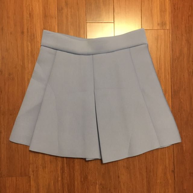 Baby Blue Pleated Skirt