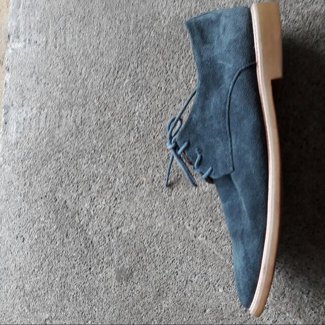Barkers Blue Suede Shoes Size US 11