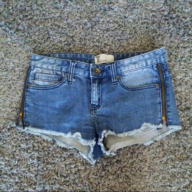 Bettina Liano Denim Shorts