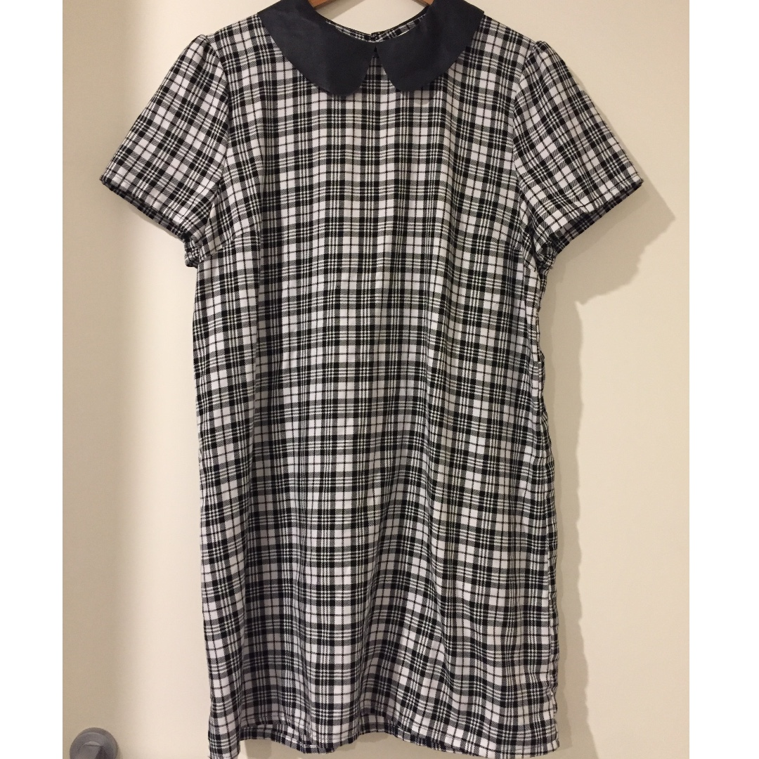 Black and White Tartan Dress