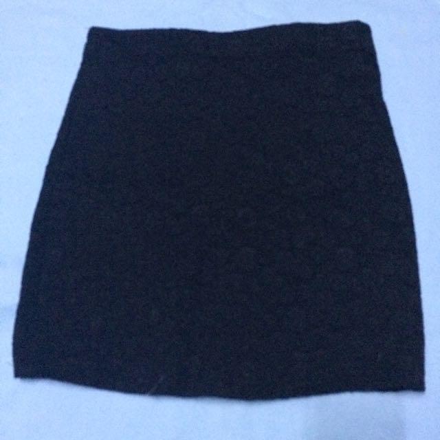 Black Bondage Garterized Skirt