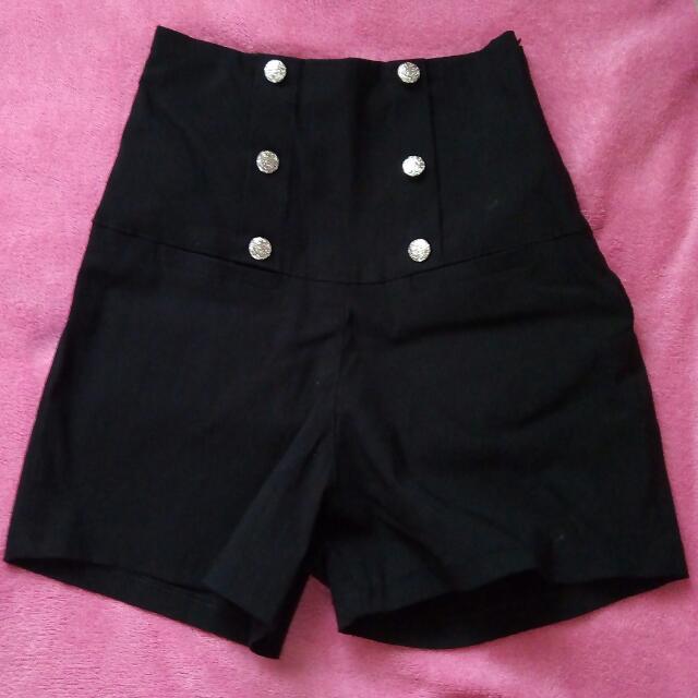 Black HW Shorts