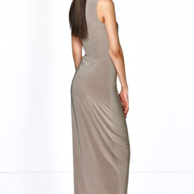 Boohoo Camel Formal/Maxi Dress