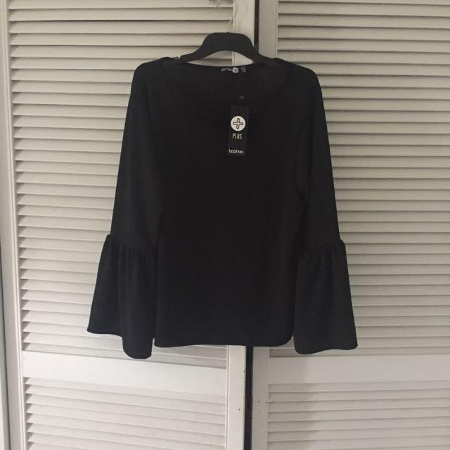 Boohoo Plus Size Black Top
