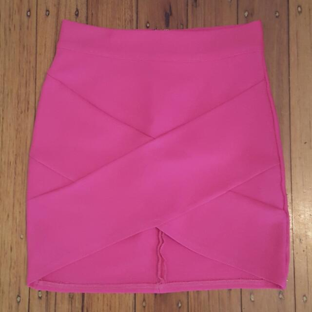 Bright Pink Tube Skirt Size 10