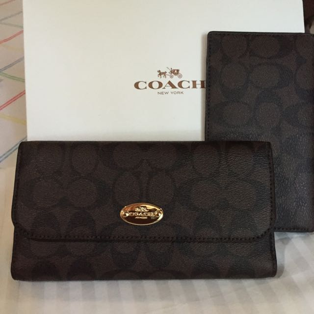 Coach Signature PVC Wallet/ Checkbook