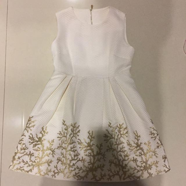 Cocktail Dress Import Putih Sz L