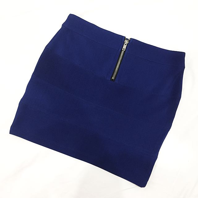 Dark Blue Mini Skirt (size 8)