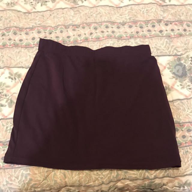 Deep Purple Skin Tight Skirt