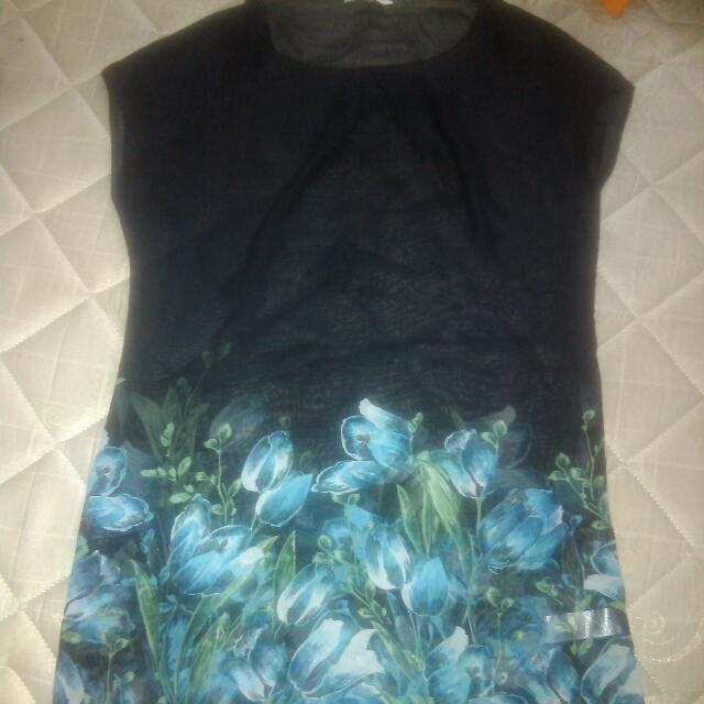 DRESS FLOWER BLACK