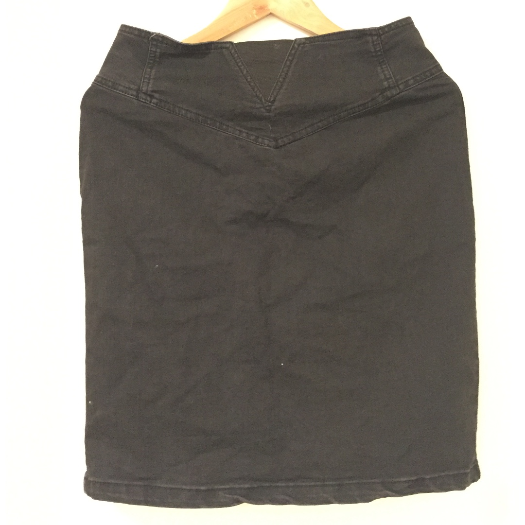 Factorie Black Denim Skirt