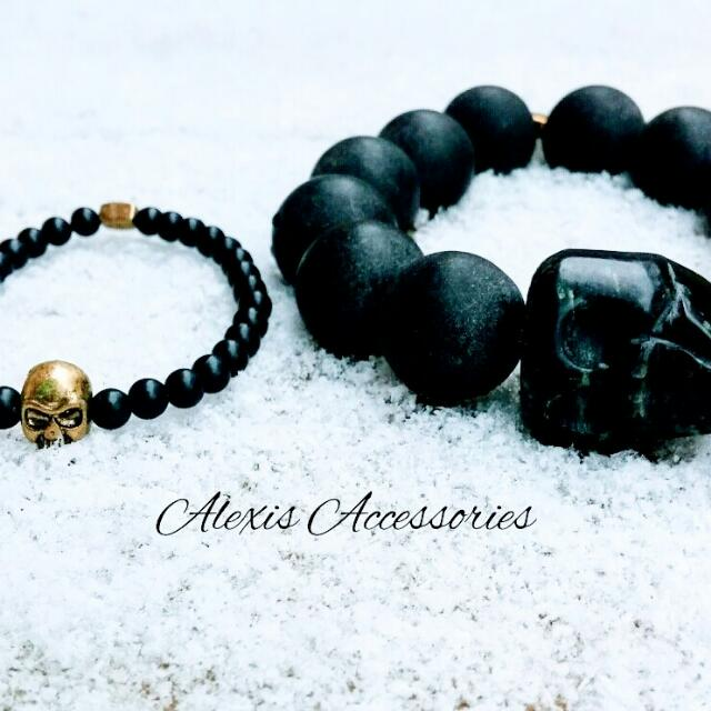 Father And Son Matching Skull Bracelet