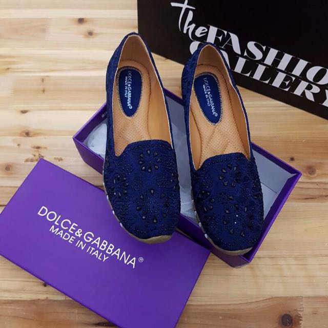 Flat Shoes D&G Navy Blue