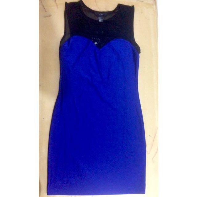 Forever 21 Blue Mini Tight Dress