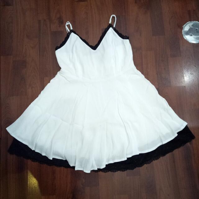 Forever 21 Summer Dress Black/white