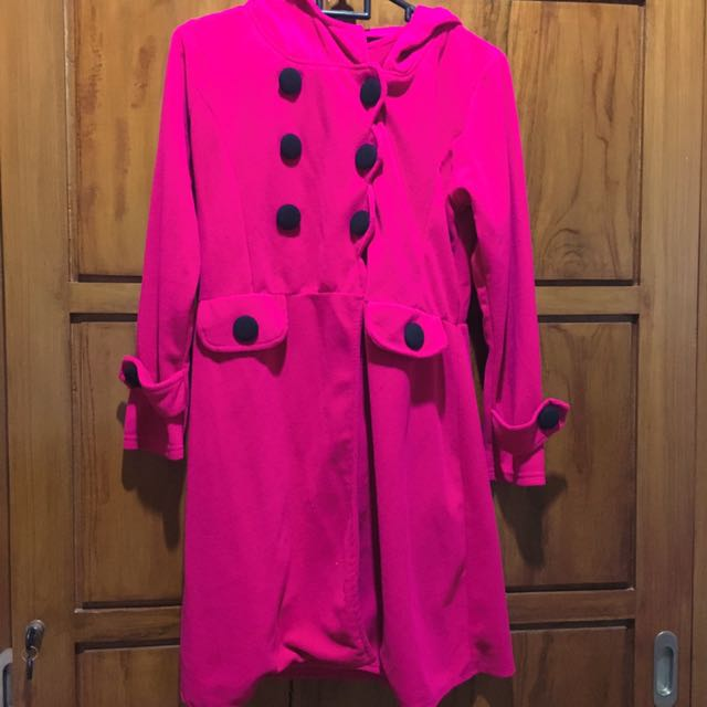 Fuchsia Pink Korean Coat (SALE PINDAHAN)