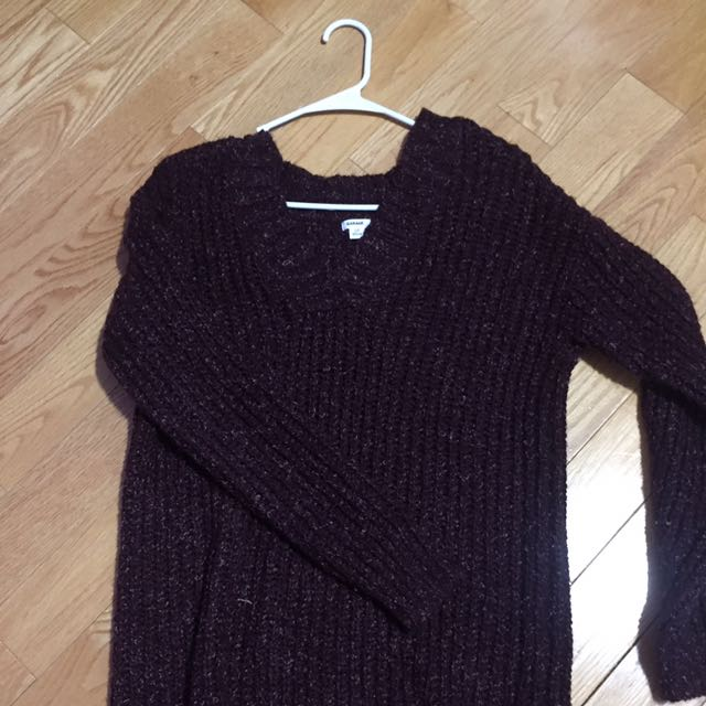 Garage Maroon Knitted Sweater