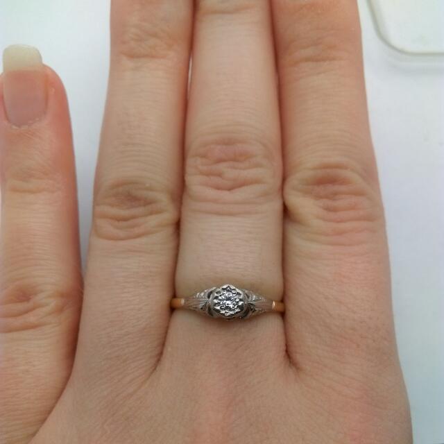 Genuine 18CT Two Tone Gold Diamond Ring