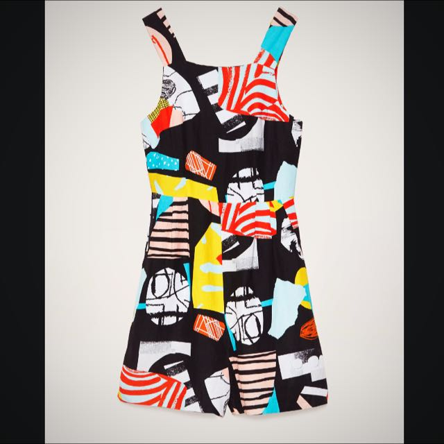 GORMAN Size 8 Abstract Pattern Playsuit
