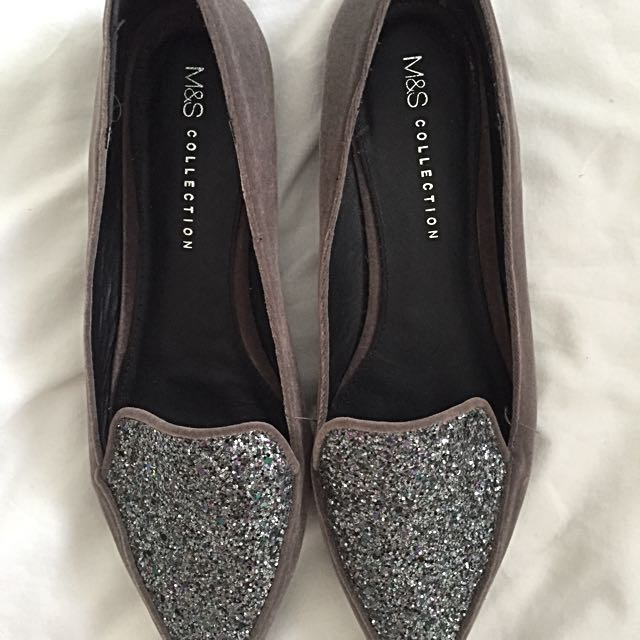 b6a5a6f2ad3b Grey Sparkly Marks And Spencer Pumps, Women's Fashion, Shoes on ...