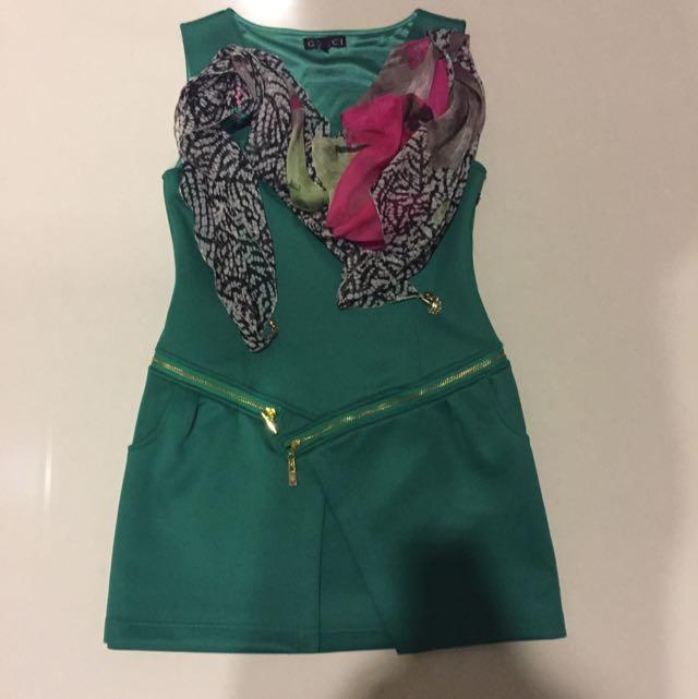 Gucci Green Dress Sz L
