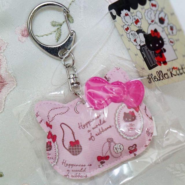 日本Hello Kitty皮質捏捏鑰匙圈