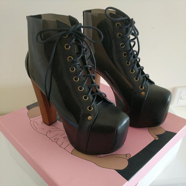 Jeffrey Campbell Cleata in Black Smoke