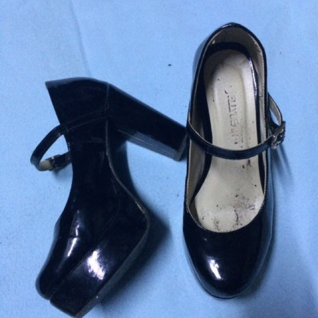 Jellbean Black Heels Shoes