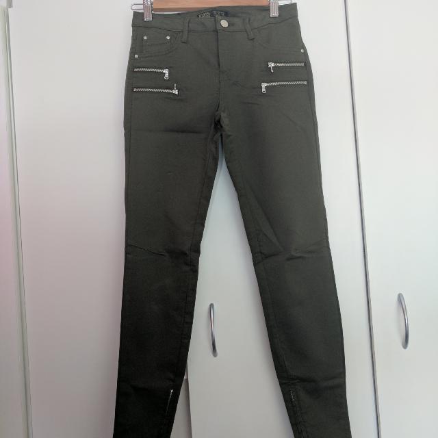Khaki Zara Pants Size 36