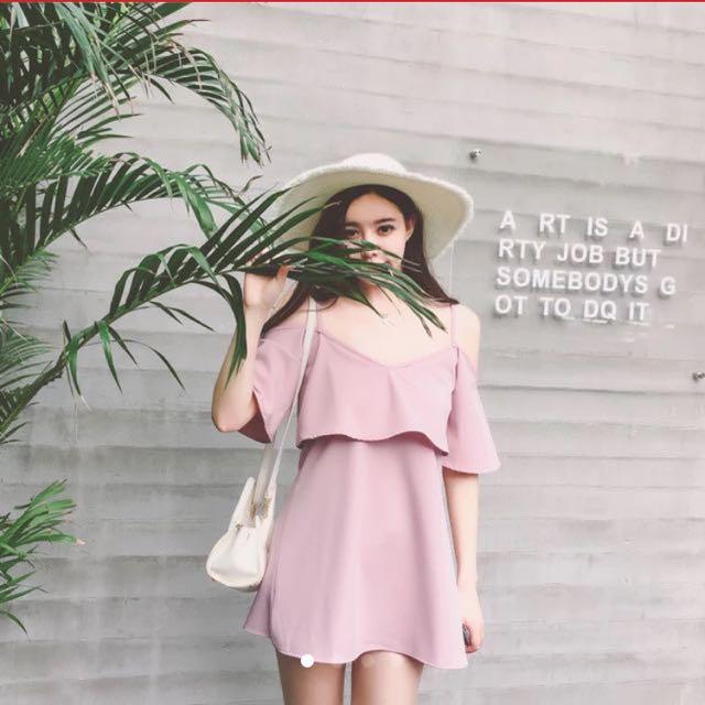 Korean Off shoulder dress
