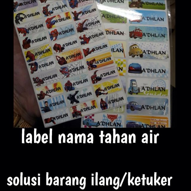 Label Nama Anti Air