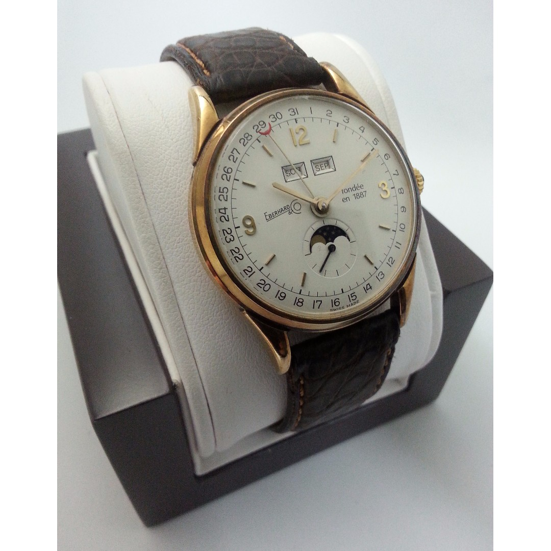 140/499 Limited Edition Eberhard & Co Moonphase Chronograph Automatic