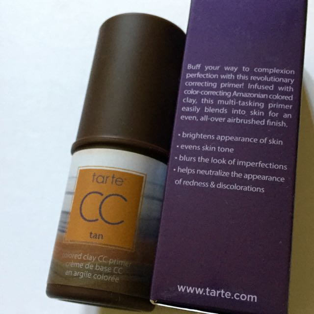 New & Sold Out Shade Tarte CC Coloured Clay Primer