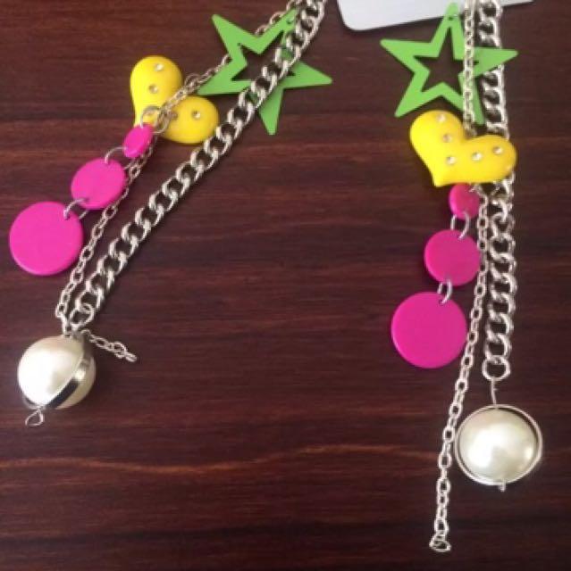 One Off, Hand Made, Pop Art Inspired Earrings