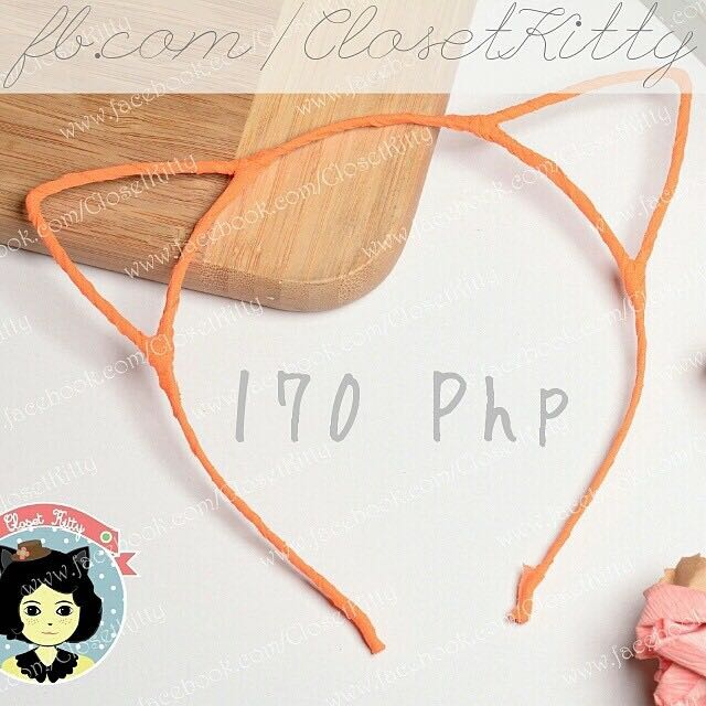 Orange Cat Ears (Alloy Base)
