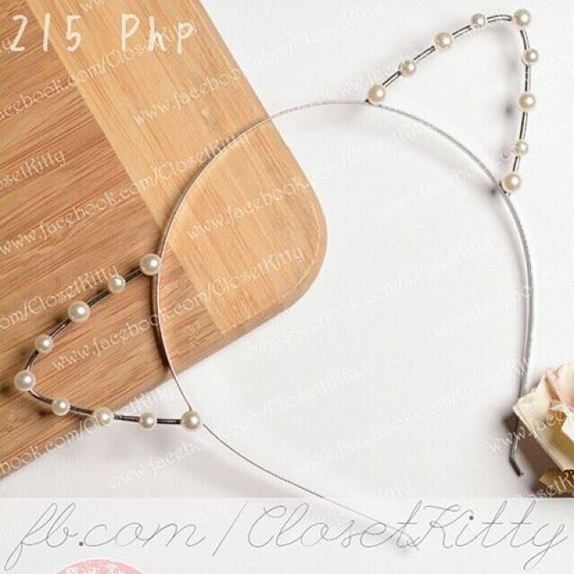 Pearl Cat Ears (Gold Alloy)